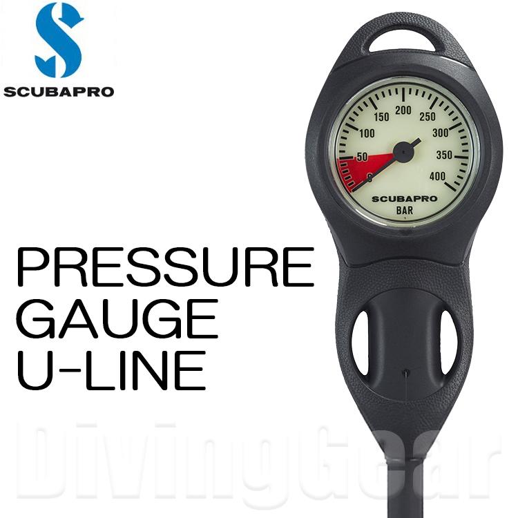 SCUBAPRO(スキューバプロ) コンパクト プレッシャーゲージ Uライン COMPACT PRESSURE GAUGES U-LINE