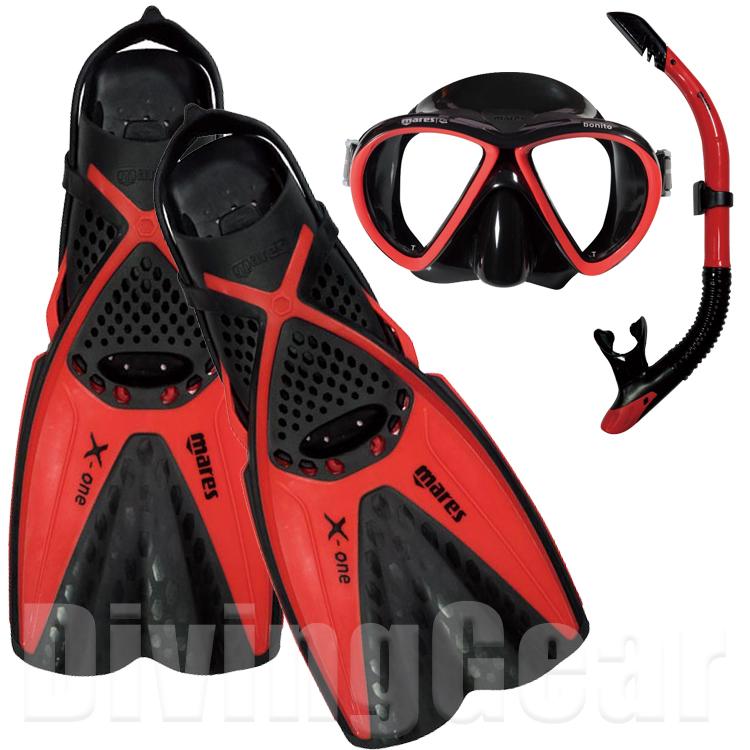 mares マレス X-ワン マレア スノーケリング3点セット 大人向け 商店 X-ONE シュノーケリングセット マスク スノーケル Set MAREA フィン プレゼント Snorkeling