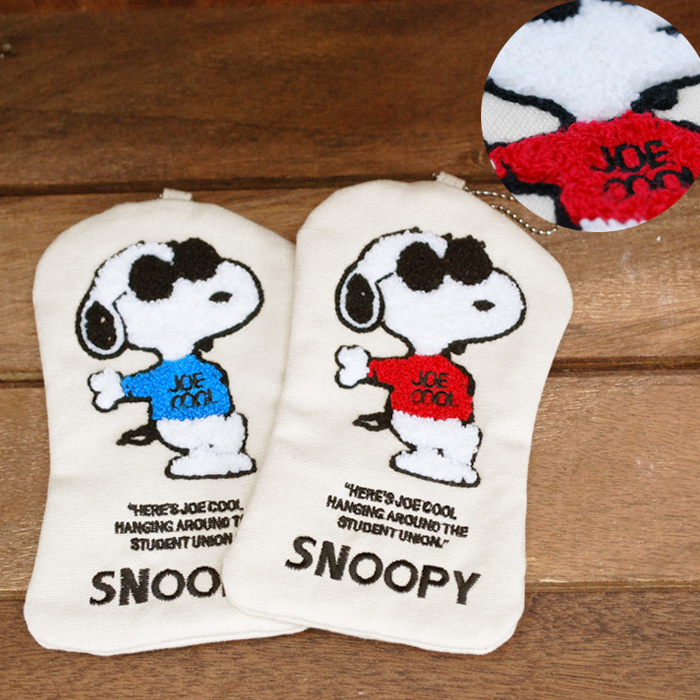 JOE COOL canvas Carle sentence embroidered pouch SNOOPY Snoopy PEANUTS  comic WOODSTOCK Womens mens kids junior outdoor OUTDOOR casual popular  gifts