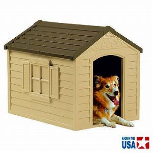 TOSHO サンキャスト 中型犬用 ドッグハウス 犬小屋 カラー: ベージュ&オリーブグリーン DH250 ※北海道+700円