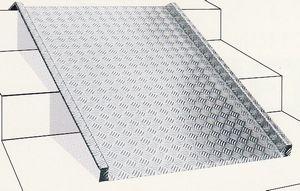 歩行者・台車・車椅子用 ノンスリップ段差スロープ 200mm段差まで(RA200N)