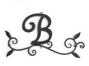 ロートアイアン 妻飾り [B] (WA-K0B)壁飾り 新居 装飾 モダン シンプル アイアン オーナメント ウォールアクセサリー エクステリア