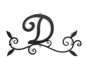 ロートアイアン 妻飾り [D] (WA-K0D)壁飾り 新居 装飾 モダン シンプル アイアン オーナメント ウォールアクセサリー エクステリア