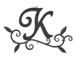 【送料無料】ロートアイアン 妻飾り [K] (WA-K0K)壁飾り 新居 装飾 モダン シンプル アイアン オーナメント ウォールアクセサリー エクステリア