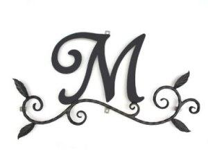 ロートアイアン 妻飾り [M] (WA-K0M)壁飾り 新居 装飾 モダン シンプル アイアン オーナメント ウォールアクセサリー エクステリア