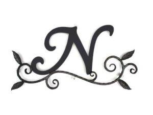 ロートアイアン 妻飾り [N] (WA-K0N)壁飾り 新居 装飾 モダン シンプル アイアン オーナメント ウォールアクセサリー エクステリア