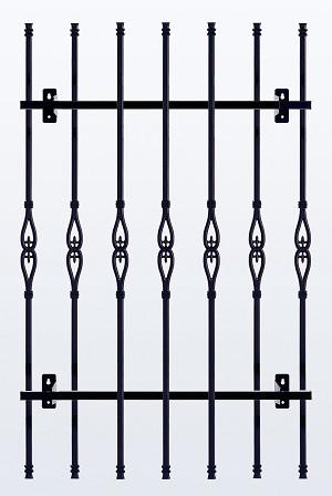 鋳物 窓格子・面格子 H1100 W680(MGF117306)
