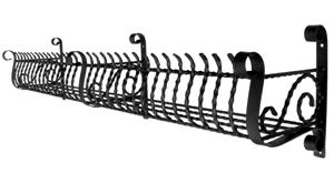 【送料無料】ロートアイアン フラワーボックス L字型(W1860×D310×H440mm)(L:F-004)