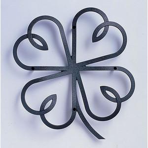 【送料無料】アルミ鋳物 妻飾り(オーナメント) クローバーリーフタイプ【ニチハ】(FFA5188 ブラック)