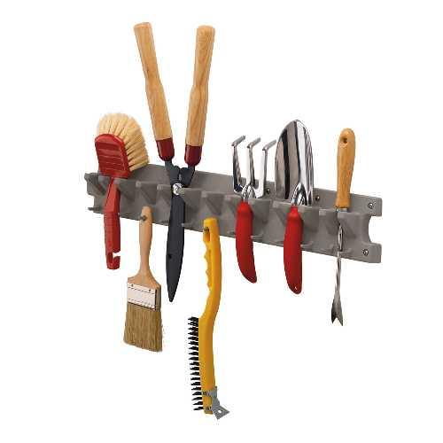<title>最大25個のツールを収納可能なツールハンガーです 壁にネジで固定して利用して下さい ネジは付属しません ガーデン 収納 ガーデンツールハンガー V713P TOSHO サンキャスト ※北海道 九州 在庫あり 500円</title>