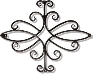ロートアイアン 妻飾り (WA-C01)壁飾り 新居 装飾 モダン シンプル アイアン オーナメント ウォールアクセサリー エクステリア