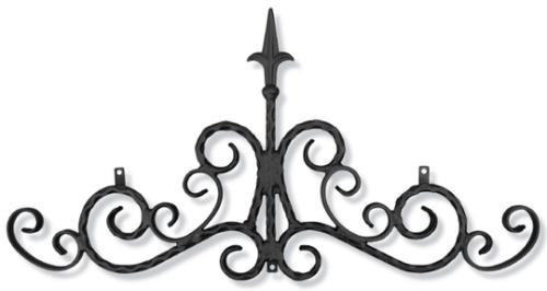 ロートアイアン 妻飾り (WA-C02)壁飾り 新居 装飾 モダン シンプル アイアン オーナメント ウォールアクセサリー エクステリア