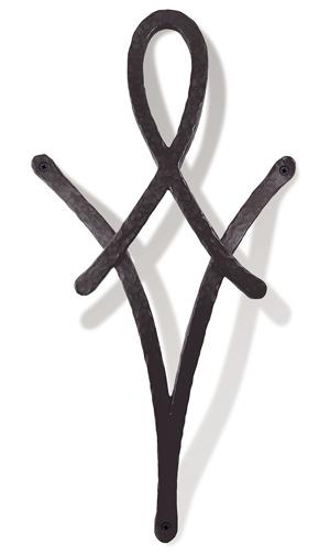 アルミ鋳物 妻飾り(オーナメント)・壁飾り (IT4708)