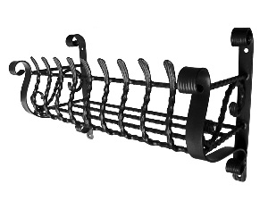 ロートアイアン フラワーボックス L字型(W700×D300×H440mm)(S:F-002)