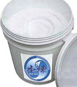 既練り漆喰 本練 (ほんねり)/ライトグレー 20kg/缶 (約16.5平米分) コテ用