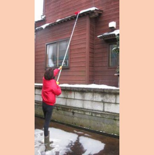 【送料無料】ひさし・屋根雪落とし(5.0m) 軒 屋根 カーポート つらら ツララ 除雪 雪きり 軽量 雪おろし 除雪道具