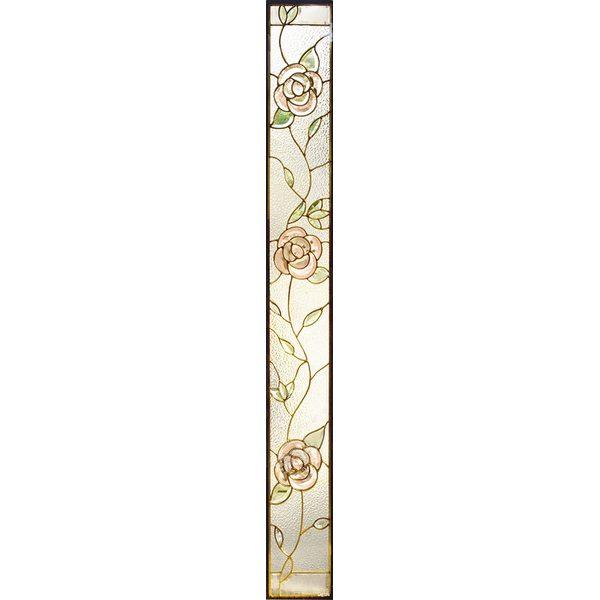 【送料無料】ステンドグラス (SH-J03) 1625×177×20mm デザイン ローズ 薔薇 ピュアグラス Jサイズ (約10kg) ※代引不可