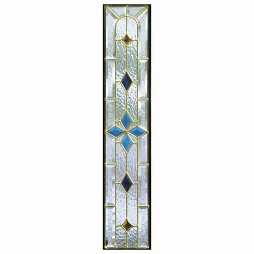 【送料無料】ステンドグラス (SH-G02) 一部鏡面ガラス 913×177×18mm デザイン ピュアグラス Gサイズ (約5kg) ※代引不可