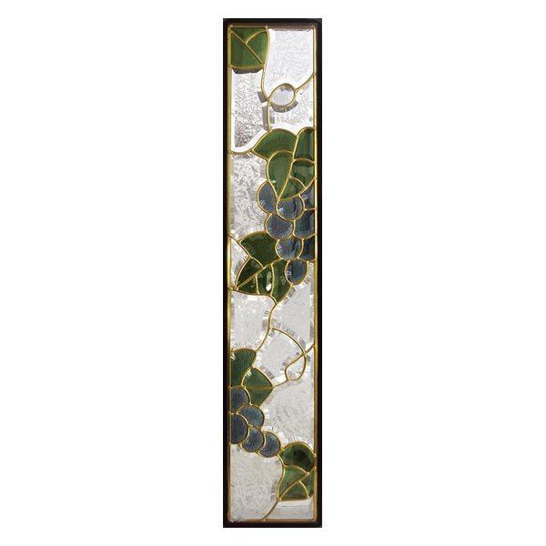 ステンドグラス (SH-G03) 一部鏡面ガラス 913×177×18mm デザイン ブドウ 葡萄 ピュアグラス Gサイズ (約5kg) ※代引不可