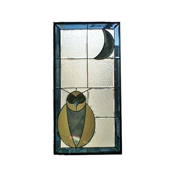 【送料無料】ステンドグラス 【在庫限り】【1枚限定】 (SH-GL81) 913×480×18mm フクロウ ピュアグラス Aサイズ ※代引不可 Theバーゲン