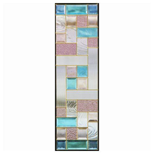【送料無料】ステンドグラス (SH-C07) 927×289×18mm デザイン 幾何学 ピュアグラス Cサイズ (約8kg) メーカー在庫限り ※代引不可