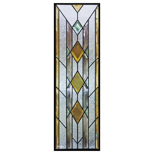 【送料無料】ステンドグラス (SH-C08) 一部鏡面ガラス 927×289×18mm ピュアグラス Cサイズ (約8kg) メーカー在庫限り ※代引不可