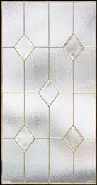 ステンドグラス (SH-A24) 913×480×18mm デザイン ピュアグラス クリア Aサイズ (約13kg) メーカー在庫限り ※代引不可
