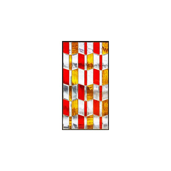 【送料無料】ステンドグラス (SH-A26) 913×480×18mm デザイン ピュアグラス クリア Aサイズ (約13kg) メーカー在庫限り ※代引不可