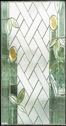 【送料無料】ステンドグラス (SH-A27) 一部鏡面ガラス 913×480×18mm ピュアグラス Aサイズ (約13kg) メーカー在庫限り ※代引不可