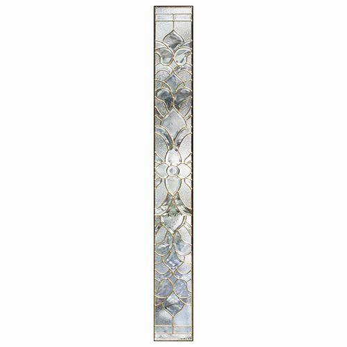 ステンドグラス (SH-J04) 1625×177×20mm デザイン アンティーク ピュアグラス クリア Jサイズ (約10kg) ※代引不可