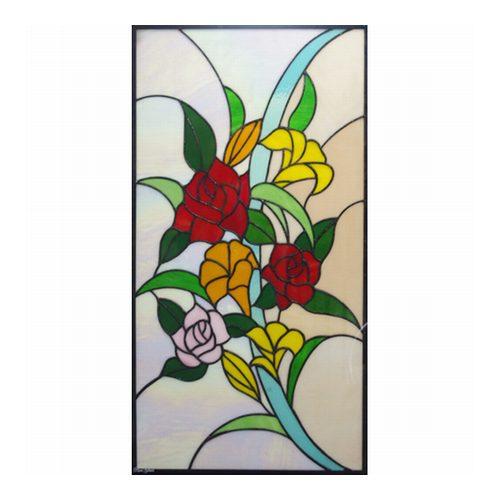 【送料無料】ステンドグラス (SH-L01) 913×480×18mm デザイン (約13kg) ピュアステンド 花束 【メーカー在庫限り】 ※代引不可