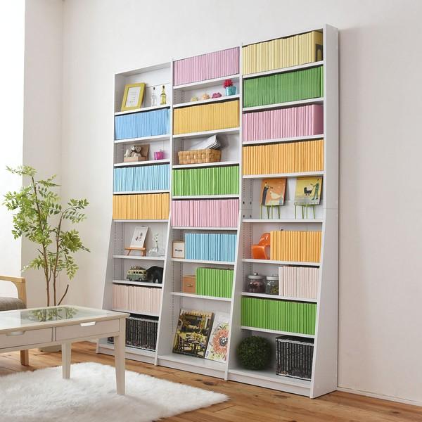 【送料無料】本棚 薄型 文庫本収納ラック 幅150 ホワイト (FRM-0011-WH)