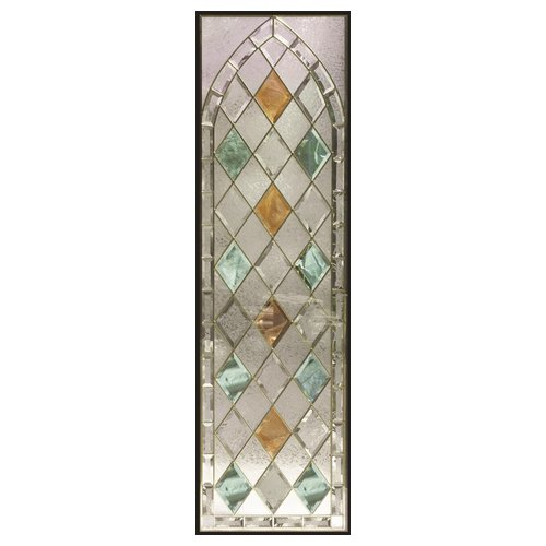 ステンドグラス (SH-B20) 1625×480×20mm デザイン アンティーク 紋章風 ピュアグラス Bサイズ (約24kg) ※代引不可