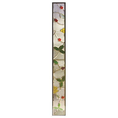 【送料無料】ステンドグラス (SH-J05) 1625×177×20mm デザイン 小花 ピュアグラス Jサイズ (約10kg) ※代引不可