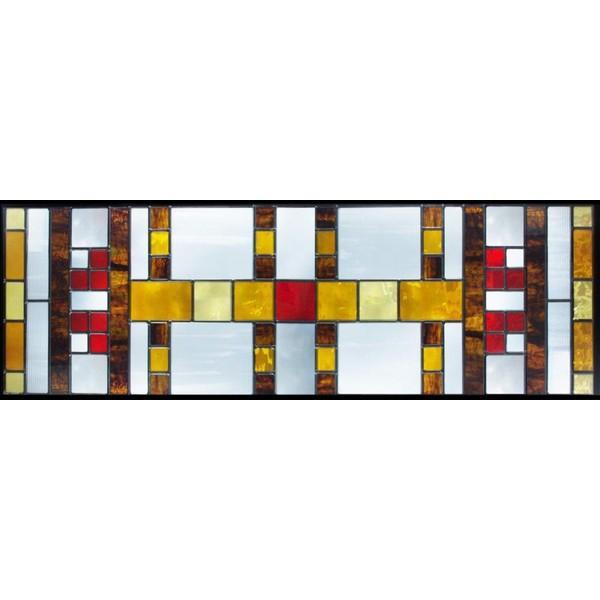 ステンドグラス (SH-C35) 927×289×18mm デザイン ピュアグラス Cサイズ (約8kg) ※代引不可