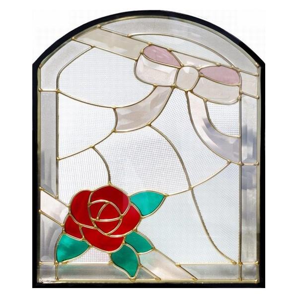 ステンドグラス (SH-K16) 500×400×18mm デザイン 窓型 ピュアグラス Kサイズ (約6kg) 一部鏡面ガラス ※代引不可