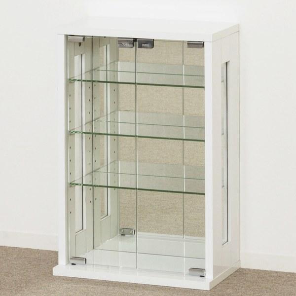 【送料無料】卓上コレクションケース 縦型 W40 ホワイト (27060) クロシオ コレクションボード 【北海道・沖縄・離島送料別途見積】
