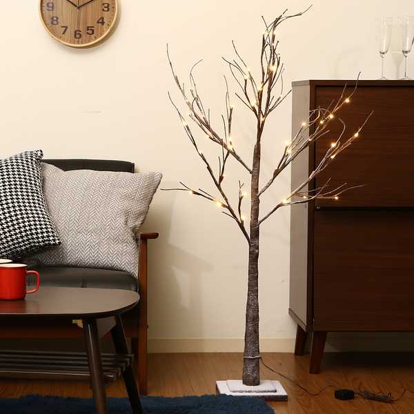 クリスマスツリー LEDスノーツリーブラウン 120cm (18197)