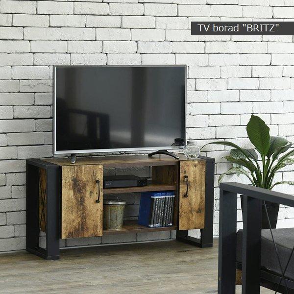 【送料無料】【代引不可】 テレビボード テレビ台 40型 幅90cm (FBR-0001-BKBR) ブルックリンスタイル britz