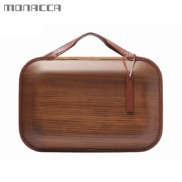 木のバッグ モナッカ monacca Roots Land (ブラウン) 木製 カバン 日本製 ※北海道・沖縄・離島+1030円