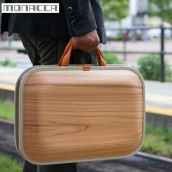 木のバッグ モナッカ monacca kaku (プレーン) 木製 カバン 日本製 ※北海道・沖縄・離島も送料無料
