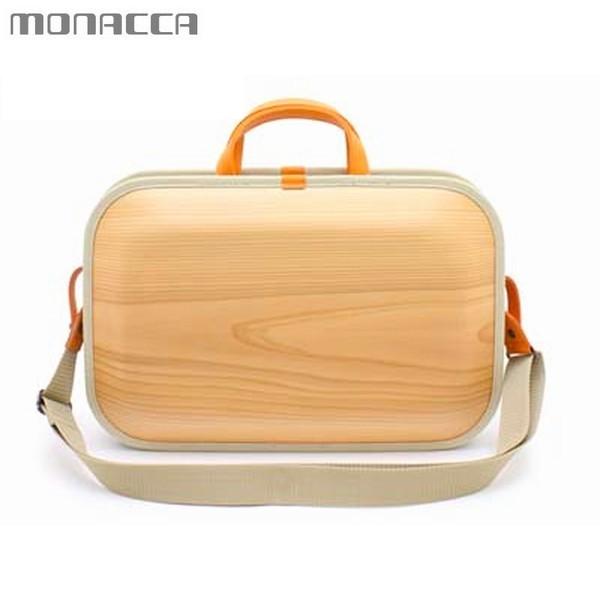 木のバッグ モナッカ monacca kaku-ss (プレーン) 木製 カバン ショルダー 日本製 ※北海道・沖縄・離島+1030円