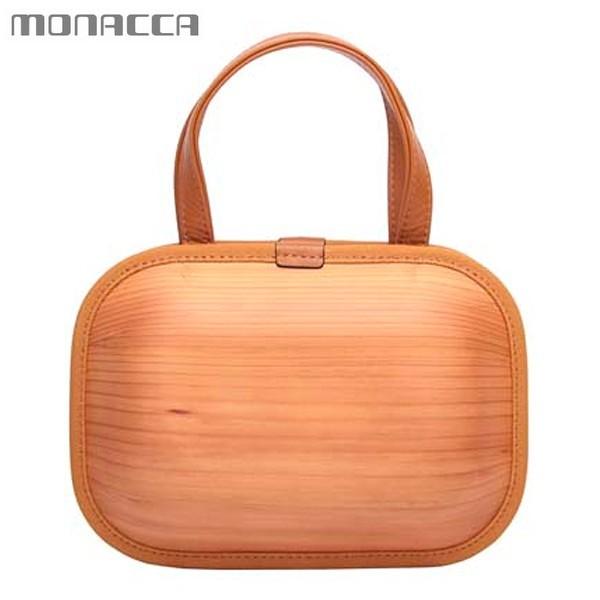 木のバッグ モナッカ monacca kaku-shou (タンニン/モカエッジ) 木製 カバン 日本製 ※北海道・沖縄・離島+1030円