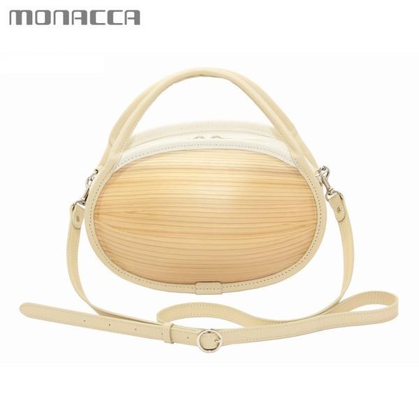 木のバッグ モナッカ monacca ishikoro (プレーン) 木製 カバン ショルダー 日本製 ※北海道・沖縄・離島+1030円