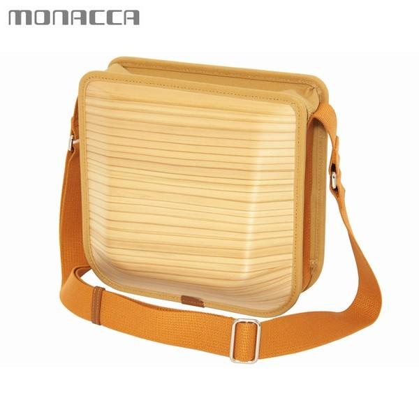 木のバッグ モナッカ monacca postman (プレーン) 木製 カバン ショルダー 日本製 ※北海道・沖縄・離島+1030円