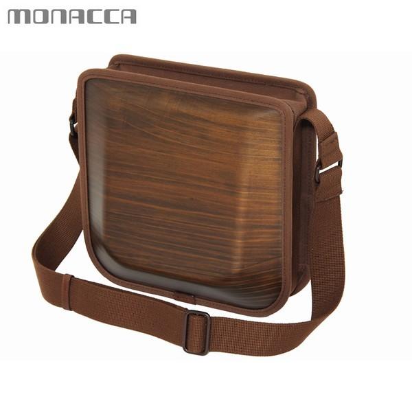 木のバッグ モナッカ monacca postman (ブラウン) 木製 カバン ショルダー 日本製 ※北海道・沖縄・離島+1030円
