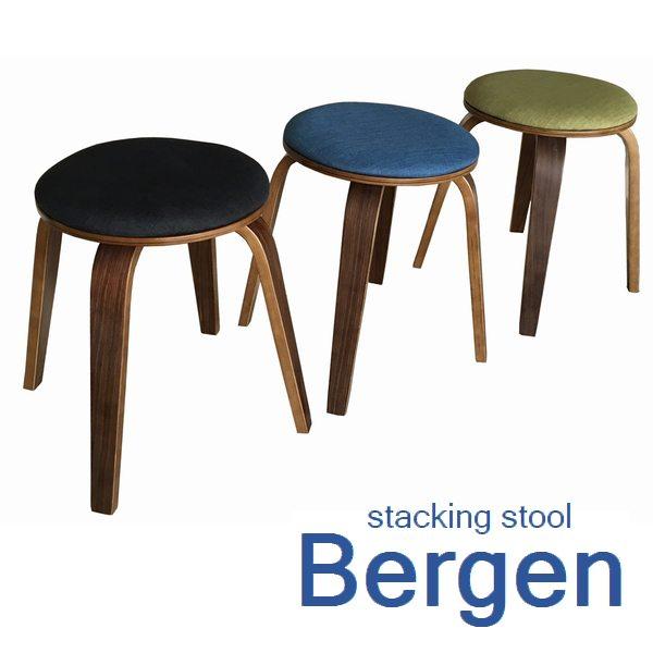 【送料無料】スツール 椅子 スタッキング 『ベルゲン』 2脚組 腰掛け (ST-07) ※北海道・沖縄・離島送料別途見積