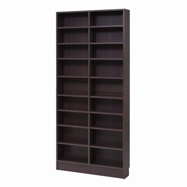 【送料無料】 書棚 本棚 薄型オープン 幅81 ダークブラウン (FRM-0101-DB) MEMORIA