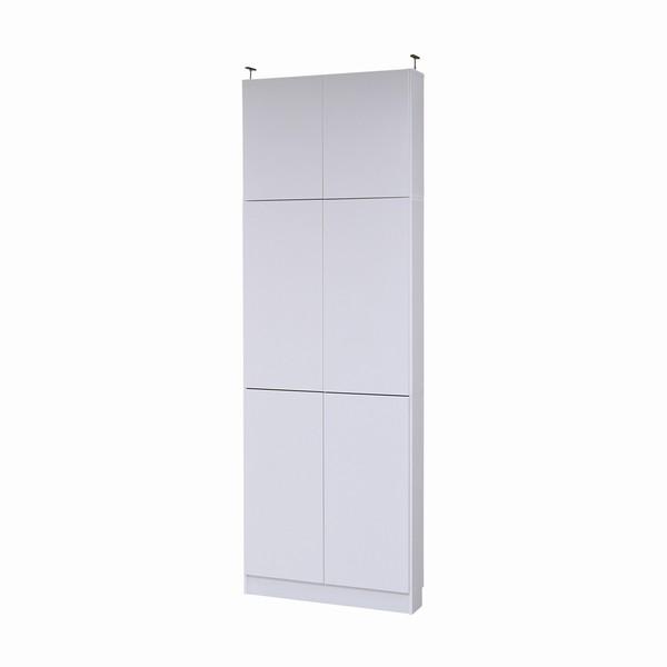 【送料無料】書棚 本棚 『MEMORIA』 薄型扉付 幅81 上置きセット ホワイト (FRM-0101DOORSET-WH)