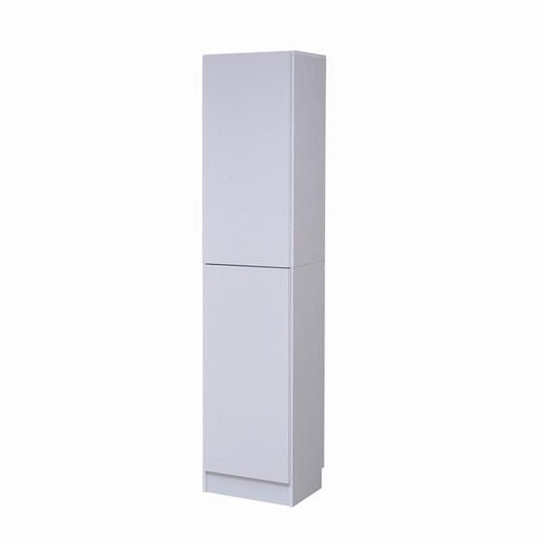 【送料無料】書棚 本棚 『MEMORIA』 深型扉付 幅41.5 ホワイト (FRM-0106DOOR-WH)